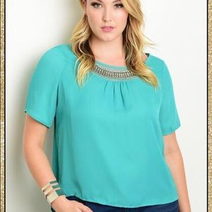 Tops - 'Must Be Love' Mint Top (CURVY)